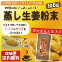 【DM便送料無料】蒸し生姜 高知県産 100g 蒸ししょうが 粉末 国産 しょうがパウダー 蒸しショウガ 蒸ししょうが粉末 ショウガオール
