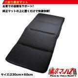 六折り敷きマット縦230cm横60cm ブラック【RCP】