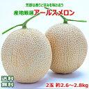 ショッピングメロン 【送料無料】産地厳選 アールスメロン2玉 約2.6〜2.8kg