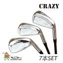 CRAZY クレイジー CRZ-IRON PROTO TYPE アイアン 7本セット(#5 - 9, Pw + #4) ヘッドパーツ