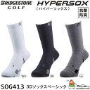 【2016年モデル】 ブリヂストン ハイパーソックス 3Dソックスベーシック 男性用 フリーサイズ(25-27cm) 靴下 SOG413 BRIDGESTONE HYPERSOX 【16aw】