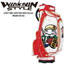 楽天町のゴルフ屋さんウィンウィンスタイル ラッキーゴッド キャディバッグ ゴールドバージョン レッド CB-364 七福神 セール お買い得品 WINWIN STYLE LUCKY GODs CART BAG Red 20wn