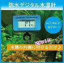 デジタル 防水 水温計 温度計 ブルー MITM-04 吸盤付き 水槽 にピタッと貼るだけ アクアリウム 熱帯魚 水温管理 【送料無料】(ゆうメール)