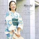 浴衣 3点セット(浴衣/半幅帯/下駄) Macle by bonh