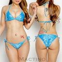 セクシー 【BikinisTokyoオリジナル】タイサイドヒップシャーリングビキニセット・ホログラムラメブルー セクシーコスチューム