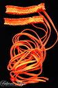 コスプレ ダンサー 衣装 ガーター付き レッグロープ2本セット・オレンジ