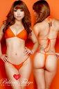 セクシー 日本製 マイクロビキニ 過激 極小水着 極小ビキニ パット付きシンプルTバックビキニSETマットカラー・オレンジ レディース セクシーコスチューム