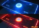 【送料無料!!】トラック用LEDアクリルナンバープレート/24V/ブルー・レッド