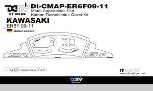 商品お届け後にレビューを書いていただくと送料無料!!KAWASAKIER-6F(NINJA650)09-11メータープロテクトパッドK3カーボン(MeterApperancePad)