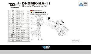 商品お届け後にレビューを書いていただくと送料無料!!ステアリングダンパーマウントキット24.6mmハイパープロ(DamperMountingKitforHyperpro)KAWASAKI-ER6F(NINJA650)12-15