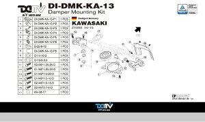商品お届け後にレビューを書いていただくと送料無料!!ステアリングダンパーマウントキット24.6mmハイパープロ(DamperMountingKitforHyperpro)KAWASAKI-Z100014-15