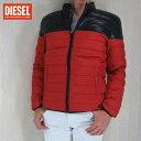 ディーゼル DIESEL メンズ ダウンジャケット ブルゾン アウター ダウン JAMEE 00S8DF 0DAFM/ブラック/オレンジ サイズ:S/M/L/XL