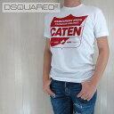 ディースクエアード DSQUARED2 Tシャツ 半袖 丸首 メンズ カットソー クルーネック S74GD0115/ホワイト サイズ:S/M/L/XL