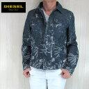 【送料無料】 DIESEL ディーゼル デニムジャケット Gジャン ペイント メンズ ダメージ加工 DIESEL BLACK GOLD ディーゼル ブラックゴールド