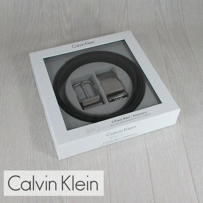 カルバンクライン Calvin Klein ベルト 2WAYリバーシブルベルト BOX付 2974140/ブラック/ブラウン サイズ:1