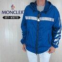 MONCLER Off-White モンクレール オフホワイト メンズ ジャケット マウンテンパーカー ウインドブレーカー 4110080 54155 / GANGUI / 73B / ブルー サイズ:3/4