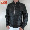 ショッピングレザージャケット ディーゼル DIESEL ジャケット メンズ レザージャケット 本革 レザー L-REED / 900A / ブラック サイズ:L