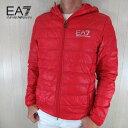 エンポリオアルマーニ EA7 EMPORIO ARMANI メンズ ダウン ジャケット フーデッド フード 8NPB02 PN29Z / 1451 / レッド 赤 サイズ:S〜3XL