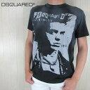 ディースクエアード DSQUARED2 メンズ 半袖 Tシャツ クルーネック 丸首 S74GD0516S21600 / 900 / ブラック 黒 サイズ:S/M/L