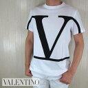 ヴァレンティノ VALENTINOメンズ 半袖 ロゴ プリント Tシャツ TV3MG02T5F6 / A01 / ホワイト 白 サイズ:S〜XL
