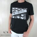 アルマーニエクスチェンジ A/X Armani Exchange Tシャツ メンズ 半袖 3HZTBC ZJ2HZ / 1200 / ブラック 黒 サイズ:S〜XXL