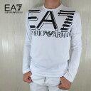 イーエーセブン EA7 EMPORIO ARMANI メンズ 長袖 Tシャツ ロングスリーブ 3HPT11 PJ02Z / 1100 / ホワイト サイズ:S〜XXL