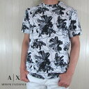 アルマーニエクスチェンジ A/X Armani Exchange 半袖 クルーネックTシャツ ロゴ グラフィックプリントデザイン 3HZTHA ZJ7DZ / 7182 / ホワイト 白/ネイビーサイズ:S〜XXL