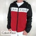 カルバンクライン Calvin Klein メンズ ジャケット ウィンドブレーカー CM008393 / ブラック 黒 / レッド サイズ:S〜XL