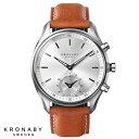 KRONABY クロナビー SEKEL セイケル 腕時計 本革 レザー 43mm A1000-1901 BR/SV ブラウン シルバー