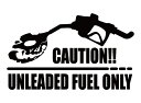 全20色 無鉛ガソリンレギュラー限定車 注意書きカッティングステッカー CAUTION UNLEADED FUEL ONLY 髑髏 ドクロ マエワークスオリジナル 無鉛燃料のみ注意! カーシール RC-02