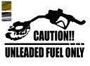 金銀メッキカラー! 無鉛ガソリンレギュラー限定車 注意書きカッティングステッカー CAUTION UNLEADED FUEL ONLY 髑髏 ドクロ マエワークスオリジナル 無鉛燃料のみ注意! カーシール RC-02m