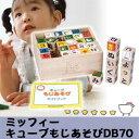 人気キャラクター木のおもちゃ 知育玩具ミッフィーキューブもじあそび DB70 【学習つみき】
