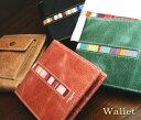 本革に帆布のアクセントの効いた財布!PS アウトポケットウォレット 二つ折り財布