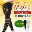 ひざや腰をしっかりサポートするテーピングスパッツ マジックウォーキング 10分丈 M・L・LL・3Lサイズ