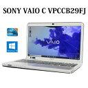 【送料無料】SONY VAIO Cシリーズ VPCCB29FJ 【Core i5/4GB/640GB/ブルーレイ/15.5型/Windows10/無線LAN/Webカメラ/Bluetooth】【中古】【ノートパソコン】【中古パソコン】