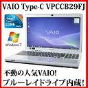 【送料無料】SONY VAIO Cシリーズ VPCCB29FJ【Core i5/4GB/640GB/ブルーレイ/15.5型/Windows7/無線LAN/Webカメラ/Bluetooth】【中古】..