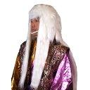 獅子毛 かつら 白【獅子 踊り カツラ ウィッグ 変装 被り物 縁起物 正月 歌舞伎 連獅子 ホワイ