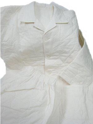ガーゼと脱脂綿の快適寝具パシーマ  パジャマ Lサイズ (襟付き(長袖)・きなり色)