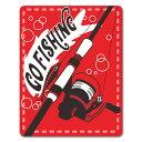 【車ステッカー】釣り スピニングリールと竿【GO FISH