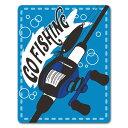 【車ステッカー】釣り ベイトリールと竿【GO FISHING