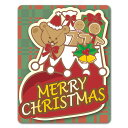 【車ステッカー】クリスマス クマとクリスマスブーツ【MERR...