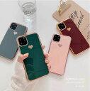 ハート メッキ風加工 韓国 可愛い ハート柄 ハート型 かわいい おしゃれ メッキ加工風 人気 iPhoneケース スマホケース iPhone スマホ ケース カバー 12 12Pro 12ProMax 12mini 11 11Pro 11ProMax SE SE2 第二世代 8 7 X XS XR