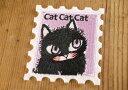Shinzi Katoh(シンジカトウ)・「Cat cat cat」〜ねこ〜シール アイロン接着両用ワッペン [入園入学/通園通学/アップリケ]WP1002