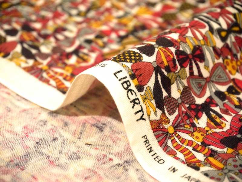 LIBERTYリバティプリント・国産リバティダブルガーゼ(二重ガーゼ)<Jenny's Ribbons>(ジェニーズ・リボンズ)3636294-06BG
