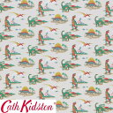 Cath Kidston キャスキッドソン 生地 コットンファブリック<Dino Multi>(ディノ マルチ)恐竜 DINO