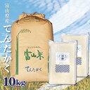 【新米】富山県産 てんたかく 10Kg 10キロ お米 送料無料 令和二年産 玄米 白米 ごはん 慣