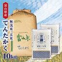 【新米】 米 10kg 送料無料 白米 無洗米 てんたかく 5kg×2 令和三年産 富山県産 10キ