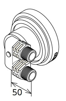 Screw connection type L-form for hot water supply device material Paloma BSAWAD-L option part circulation metal fittings (bus adapter) compulsion circulation types
