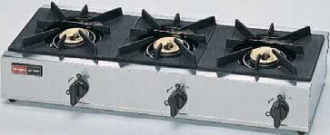 【全商品 ポイント最大 17倍】業務用ガスコンロ リンナイ RSB-306SV スタンダードタイプ 3口コンロ コンパクト45 立消え安全装置付 セーフティシリーズ [≦【店販】]