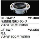 【全商品 ポイント最大 26倍】トイレ関連部材 INAX CF-8AWP 洋風床フランジ 洋風便器用 VU/VP75用(樹脂製) [□]